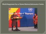 World Happiness Day at United Nations Information Centre