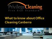 What to know about Office Cleaning Canberra