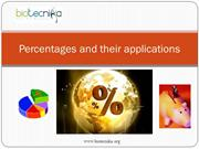 Percentages and their applications