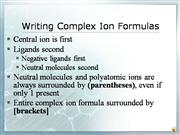 Writing Complex Ion Formulas