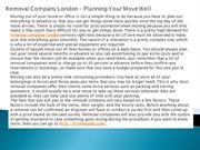Removal Company London – Planning Your Move Well