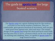 The guide to sports vest for fuller woman