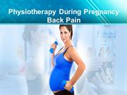 Physiotherapy During Pregnancy Back Pain