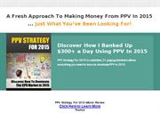 PPV Strategy For 2015 eBook Review