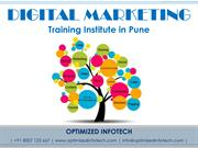 Digital Marketing Training Institute in Pune - Optimized Infotech