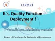 It's, Quality Function