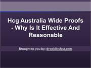 Hcg Australia Wide Proofs - Why Is It Effective And Reasonable
