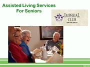 Assisted Living Services For Seniors