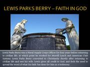 LEWIS PARKS BERRY – FAITH IN GOD