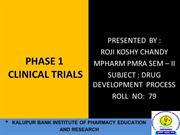 PHASE ONE CLINICAL TRIAL
