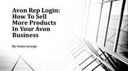 Avon Rep Login How To Sell More Products In Your Avon Business