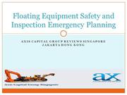 Floating Equipment Safety and Inspection Emergency Planning
