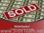 REAL ESTATE SOLD OVER DOLLAR FINANCE POWERPOINT TEMPLATE