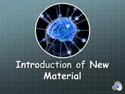 Mod 10 - Intro of New Material