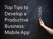 Tips to Develop a Successful Enterprise App