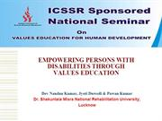 Values Education Empowerment of Disabled