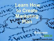 Learn How to Create Marketing Plan