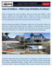Types Of Builders - Which Type Of Builders To Choose