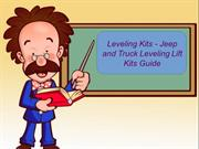 Leveling Kits - Jeep and Truck Leveling Lift Kits Guide