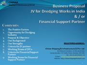 Joint Venture for Dredging Works in India