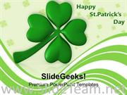 LUCKY CLOVER LEAF OFFICIAL FEAST DAY POWERPOINT TEMPLATE