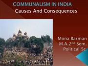 COMMUNALISM IN INDIA BY MONA BARMAN