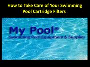 How to Take Care of Your Swimming Pool Cartridge Filters
