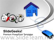 ONLINE BUYING OF HOMES REAL ESTATE POWERPOINT TEMPLATE