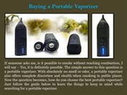 Buying a Portable Vaporizer