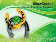 LUCKY CLOVER AND HORSESHOE FESTIVAL POWERPOINT TEMPLATE