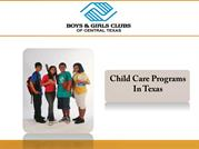 Child Care Programs In Texas