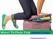 What To Pack For Jordan Tours