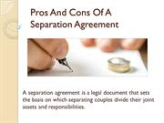 Pros And Cons Of A Separation Agreement