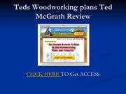 Teds Woodworking plans Ted McGrath Review