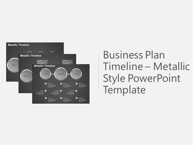 Business Plan Timeline Powerpoint Template AuthorSTREAM - Business plan timeline template