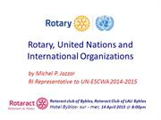 Rotary, United Nations and International Organizations-2015