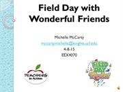 Exceptional Education Field Day