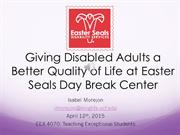 Giving Disabled Adults a Better Quality of Life