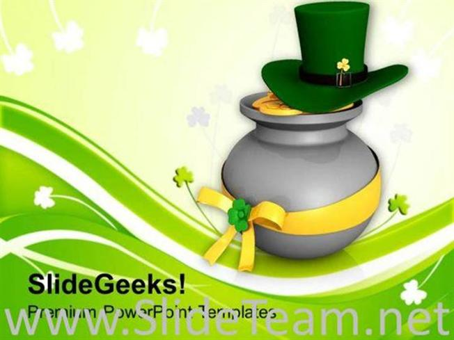 Lucky Symbols Of Irish Feast Day Powerpoint Template Powerpoint Template