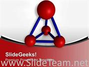 RED ATOMS JOINED TO FORM MOLECULES POWERPOINT TEMPLATE