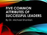 Five Common Attributes of Successful Leaders for Heights Men's Confere