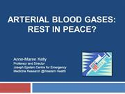 Arterial blood gases in the ED: Rest in Peace?