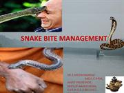 snake bite management 1