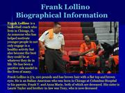 Frank Lollino_Biographical Information