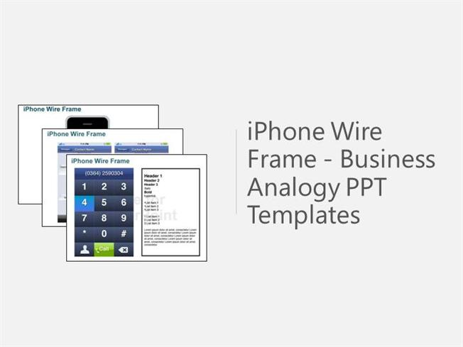 iphone wire frame powerpoint template |authorstream, Modern powerpoint
