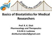 Basic Biostatistics for Postgraduates |authorSTREAM