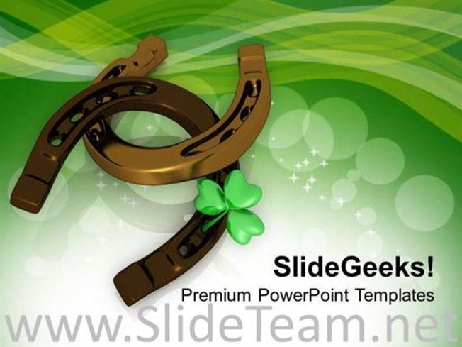 Lucky Symbols Of Irish Traditions Powerpoint Template Powerpoint