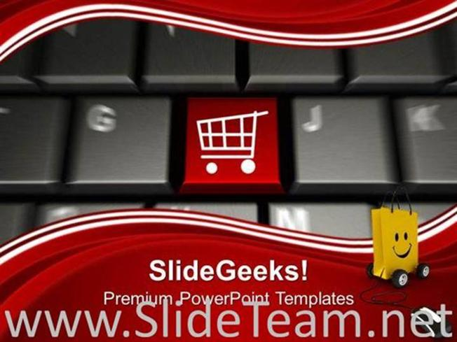 Online shopping with shopping cart symbol powerpoint template related powerpoint templates toneelgroepblik Images