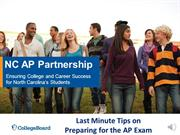 Webinar  - Last Minute Tips for AP Exam Review