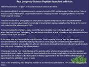 Real Longevity Science Peptides launched in Britain